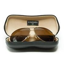 Coco Chanel Gold Frame Aviator Sunglasses Photo