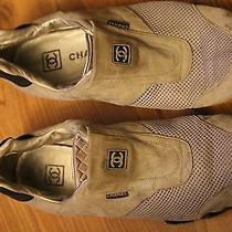 Coco Chanel Gray Suede Flat Fashion Sneakers 9.5 Photo