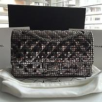Coco Chanel Limited Edition 2.55 Reissue Metallic Gray Double Flap 225 Purse Bag Photo