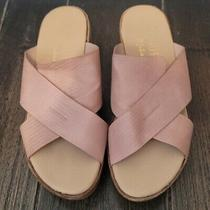 Coconuts by Matisse Chunky Platform Slide Sandal Size 9m Blush Rose Faux Leather Photo