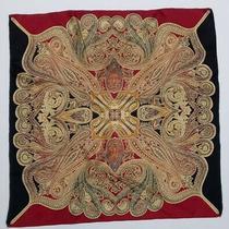 Codello Red Scarf 100% Silk Paisley 33