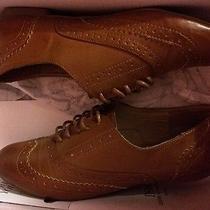 Cognac/bronze Oxfords Size 7 Photo