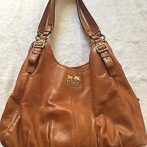 Cognac Brown Coach Madison Maggie Shoulder Bag - Pretty Fall Color Photo