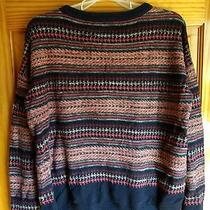 Coincidence & Chance by Urban Outfitters Navy and Orange Knit Sweater Size M Photo