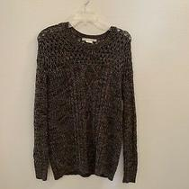 Coincidence & Chance Womens Sweater Green & Tan Cable Knit Sz M Urban Outfitters Photo
