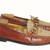 Cole Haan 10 D Linen & Leather Italian Bit Loafers 225 Photo