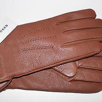 Cole Haan 100% Deerskin Leather Wool Lined Men's Gloves Tan Msrp 128 Size L New Photo