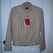 Cole Haan 100% Leather Jacket Womens L Caramel Tan Nwt Butter Soft Gorgeous Photo