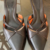 Cole  Haan 7.5 Womens Stiletto Mule Brown Leather Photo
