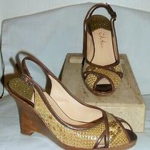 Cole Haan Air Amaya Snake Leather Slingback Wedge Sandals  6-1/2 B  Photo