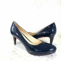 Cole Haan Air Sz. 9.5 Aa Chelsea Blue Patent Leather Low Heel Platform Pumps Photo