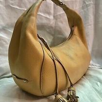 Cole Haan Beige Pebbled Leather Hobo Handbag  Photo