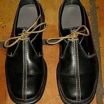 Cole Haan Black Leather Air Lace Up Dress Casual Shoes Mens Size 9.5w 9.5 Photo