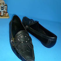 Cole Haan Black Leather Studded Loafers Shoes 8 B Photo