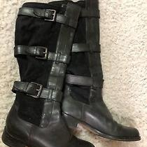 Cole Haan Black Leather/suede Boots Size 36 Photo