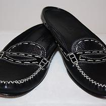 Cole Haan Black Mules Slides Slip Ons Flats Low Heel Womens Size 6b 6 B Photo