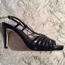 Cole Haan Black Violet Air Stp San90 Shoes Sandals Heels Pumps Sz 8b Photo
