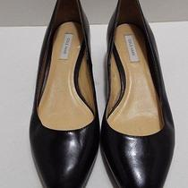 Cole Haan Bradshaw Women's Black Leather Small Wedge Pointy-Toe Pump Sz 5b Photo