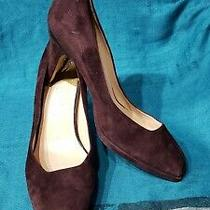 Cole Haan Brown Suede Leather Classic Pump Shoes  Size 7.5b Photo