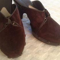 Cole Haan Brown Suede Leather Clog Studded Detail Heels Womens  7 B Photo