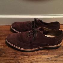 Cole Haan Brown Suede Wingtips Christy Wedge Ghilley  Men's Size 13 C12038 Photo