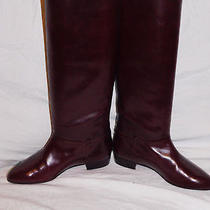 Cole Haan Burgundy Leather Knee High Boots Size 6m Photo