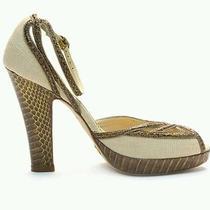 Cole Haan Camilla Platform Sandal Linen Snakeskin Nike Air 8.5 M (B) Orig. 325  Photo
