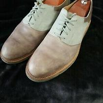 Cole Haan Christy Wedge Gray Teal Two Tone Saddle Oxford Men's 11.5 Photo