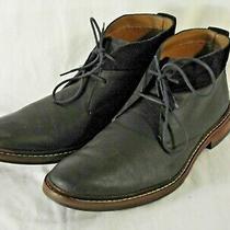 Cole Haan Chukka Boots Mens 12m Benton Welt Leather Suede Trim Black C206930 Photo