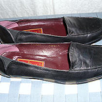 Cole Haan City Black Leather Ballet Flat Loafer 9.5 Aa Narrow Italy - Euc Photo
