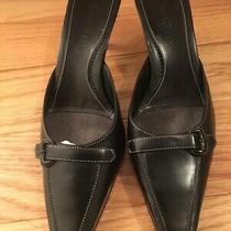 Cole Haan City Women's Size 6 B Black Leather Heel Shoes Photo