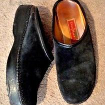 Cole Haan Country Ladies Sz 8.5b Black Suede Clogs Slip-on-S Mules Shoes  Photo