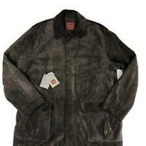 Cole Haan Country Rugged  Leather Suede Jacket Men Xl Big Tall Brown Calf Skin Photo
