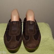 Cole Haan D29724 Brown Patent and Suede Leather Slip on Mules or Loafers Size 8 Photo
