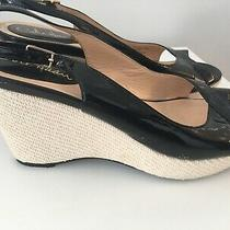 Cole Haan Dalena Air Wedge Black Atent Sandal - Size 8.5 Photo