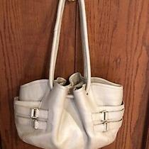 Cole Haan 'Denney' Cream Gold Tone Pebbled Leather Hobo Shoulder Bag Purse  Photo