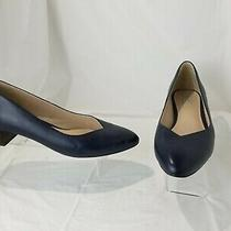 Cole Haan Grand Os Navy Leather Pumps Shoes Low Heels Women's Size 7.5 Photo