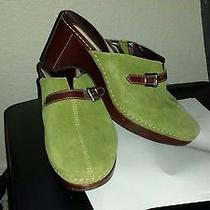 Cole Haan Green Suede Mules Sz 8 Photo