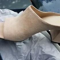 Cole Haan Laree Suede Peach Blush Open Toe Mule Size 11b Nib Photo