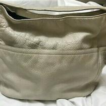 Cole Haan Large Beige Hobo Leather Handbag / Purse Pre-Owned Photo