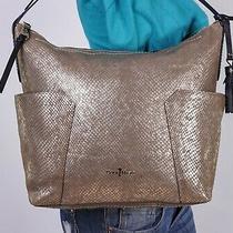 Cole Haan Large Gold Brown Leather Shoulder Hobo Tote Satchel Purse Bag Photo