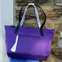Cole Haan Large Parker Nylon Purple Reign Tote Photo