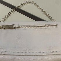 Cole Haan  Leather Clutch  Bag Gold Chain Strap Black Small Bag Photo