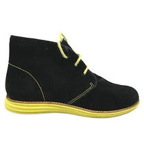 Cole Haan Lunargrand Chukka Womens Booties Sz 5.5 M Black/yellow  D38905 Photo