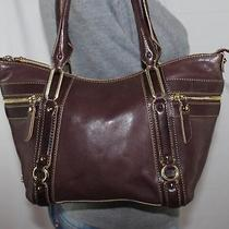 Cole Haan Medium Brown Leather Shoulder Hobo Tote Satchel Slouch Purse Bag Photo