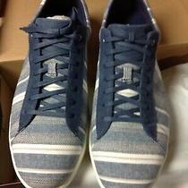 Cole Haan Men's Grand Crosscourt Blue Striped Fabric Fashion Sneakers 11.5m Nib Photo