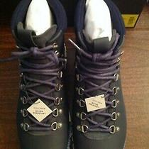 Cole Haan Men's Zerogrand Water Resistant Navy Leather Hiker Boots 11.5m Nib Photo