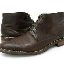 Cole Haan Mens 10 Ankle Boots C11858 Brown Lace Up Plain Toe Footwear Eur 43 M Photo