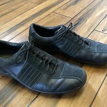 Cole Haan Mens Black Leather Lace Up Walking Comfort Sneakers Size 9.5m 161 C049 Photo
