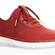 Cole Haan Mens Generation Zerogrand Red Dahlia Knit Fashion Sneaker Size 8 Photo